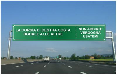 Uso corsia di destra e sorpasso a destra: cosa dice la legge?