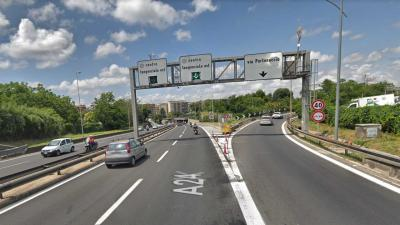 Tratto urbano della A24: maglia nera per incidenti stradali