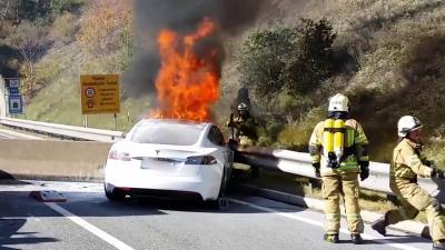 Auto elettriche: l'incendio non è facile da domare