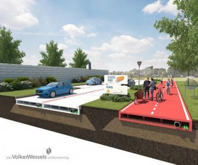 In Olanda la prima strada realizzata con plastica riciclata