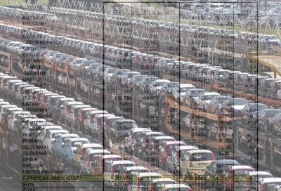 Mercato auto europa,  flessione del 6,3%