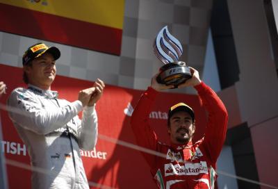 F1 GP Silverstone 2013, vince Rosberg secondo Webber, terzo Alonso