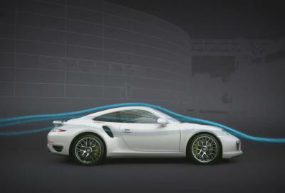 Porsche 911 Turbo, l'aerodinamica attiva