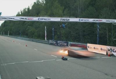 Drag Race, una Lamborghini Gallardo elaborata in fiamme a.. 402 km/h!