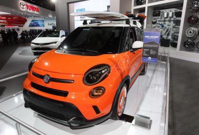 Gli stand Fiat e Chrysler a Detroit 2014