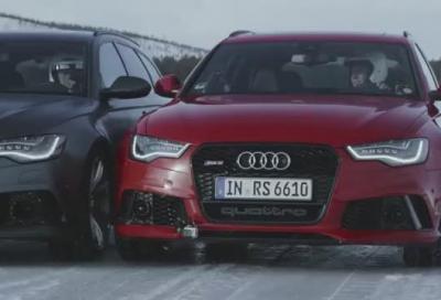 Audi RS6 Avant quattro, una sfida sul ghiaccio