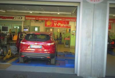 La nuova Nissan Qashqai 1.2 DIG-T durante i test al banco