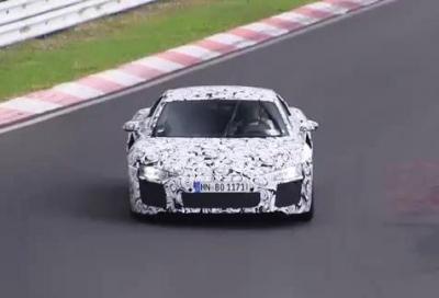 La prossima 2015 Audi R8 V10 nei test al Nurburgring