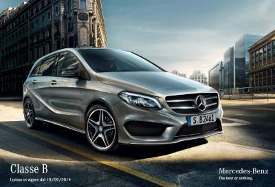 Nuova Mercedes Classe B 2014, il listino prezzi e nuovi video