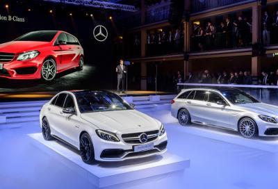 Mercedes; la Classe B, la AMG GT, e la C 63 AMG al Salone di Parigi