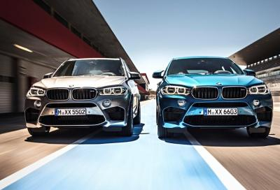 Nuove BMW X5 M e X6 M, 60 foto e video