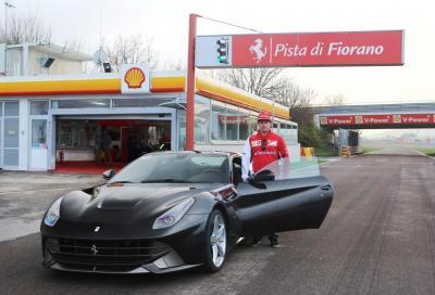 Kimi Raikkonen a Fiorano con la Ferrari F12berlinetta