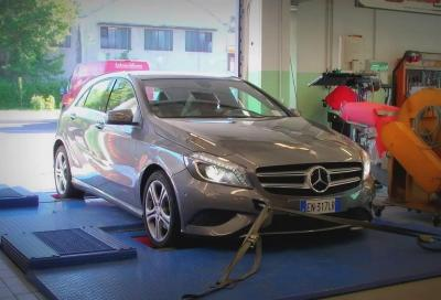 Mercedes, la Classe A 200 CDI Sport durante i test al banco
