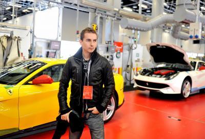 Jorge Lorenzo, seconda visita alla Ferrari