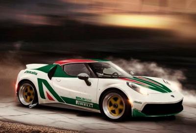 Lancia Stratos HF Rally su base Alfa Romeo 4C