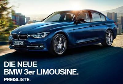Nuova BMW Serie 3 Berlina e Touring, i prezzi in Germania e 15 video
