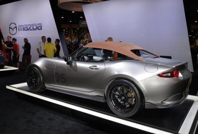 Mazda lightweight MX-5 concepts, prime foto da Las Vegas