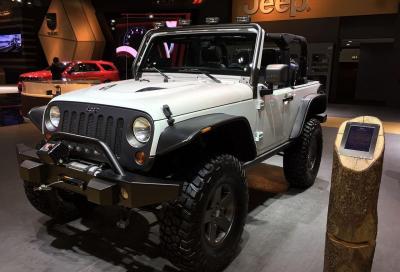 Jeep Cherokee KrawLer, Wrangler Sahara Sun Runner e  Dark Side al Salone di Dubai