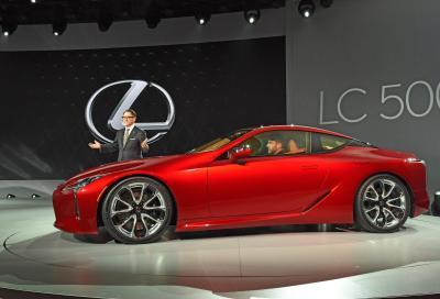 Lexus svela la nuova LC 500 a Detroit