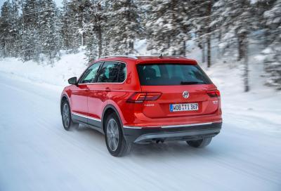 Tecnica, la nuova Volkswagen Tiguan 4Motion 2016 nei winter test