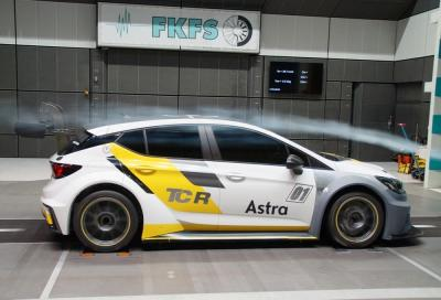 La nuova Opel Astra TCR nei test aerodinamici