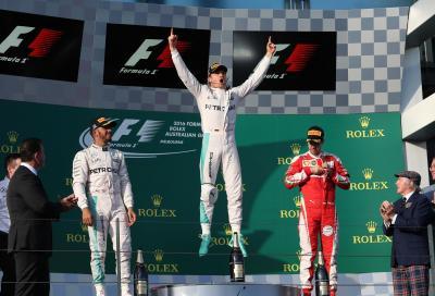 F1 2016, GP Australia vince Rosberg davanti a Hamilton, Vettel terzo