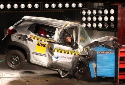Zero stelle nei crash test Global NCAP per 5 modelli indiani, Renault Kwid inclusa