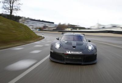 2017 Porsche 911 RSR, inizia la fase sperimentale