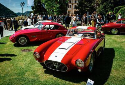 """La Maserati A6 GCS del 1954 """"Best of Show"""" a Villa d'Este"""