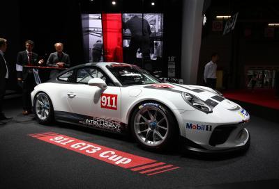 Porsche 911 GT3 Cup 2017 presentata al Salone di Parigi
