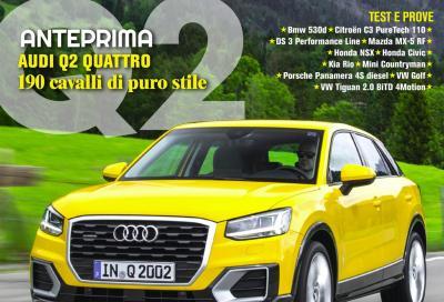 Automobilismo di marzo è in edicola con Audi Q2