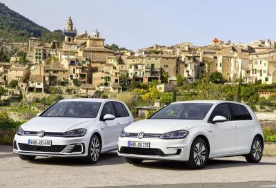 Volkswagen rinnova l'elettrica e-Golf e l'ibrida plug-in Golf GTE