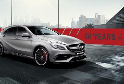 Mercedes-Amg A 45 Edition 50: festa di compleanno