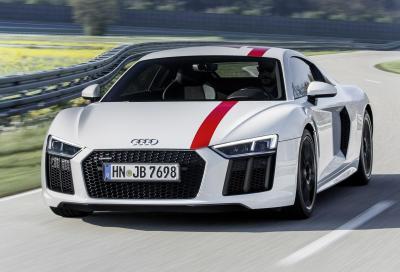 Audi R8 RWS: mosca bianca