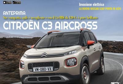 La nuova C3 Aircross in copertina di Automobilismo di novembre