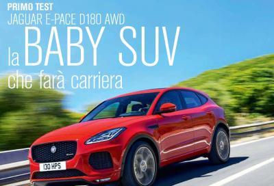 La Jaguar E-Pace D180 AWD è in copertina di Automobilismo di febbraio