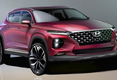 Svelati i disegni ufficiali della nuova Hyundai Sanfa Fe