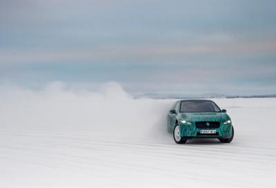 Jaguar I-Pace: ultimi test su neve ad Arjeplog