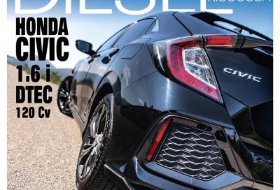 La Honda Civic 1.6 diesel è in copertina di Automobilismo di giugno