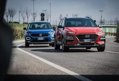Hyundai Kona vs VW T-Roc: distanze ravvicinate