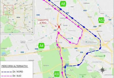 Tangenziale ovest di Milano: chiude svincolo con l'A8