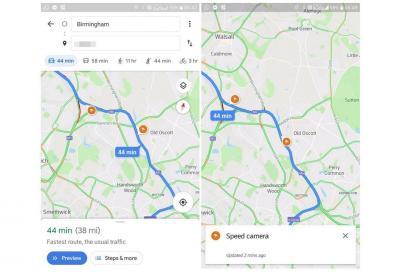 Google Maps: dopo i punti di ricarica ora anche gli autovelox