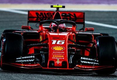 F1, in Bahrein Leclerc è più rosso della Ferrari