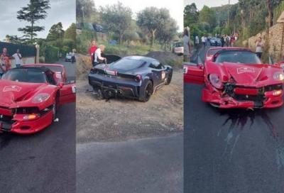 Ferrari Cavalcade: F50 tampona una 488 Pista