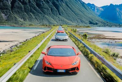 Sette Lamborghini Huracan EVO alla scoperta della Norvegia