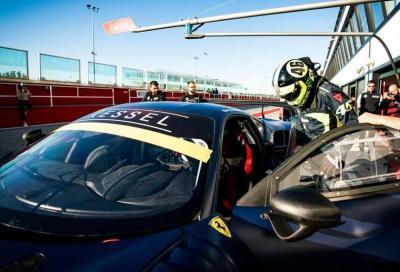 Valentino Rossi prova la Ferrari 488 GT3 a Misano