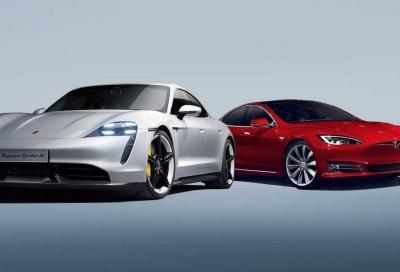 Porsche Taycan vs Tesla Model S: la battaglia senza fine