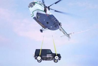 Mercedes-AMG G63: il lancio dall'elicottero ha dell'incredibile