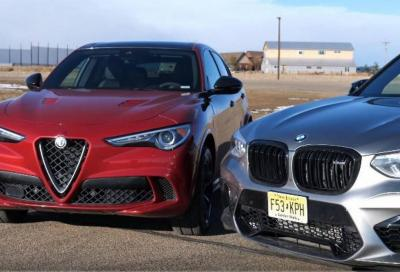 Stelvio Quadrifoglio vs X3 M: drag race da petrolhead