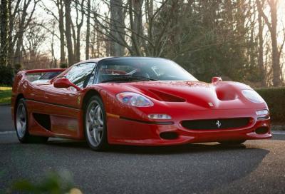 Ferrari F50: all'asta il primo esemplare, collaudata da Lauda e Alesi